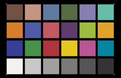 Color Rendition Chart (X-Rite ColorChecker)