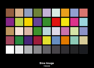 DTV Color Rendition Test Chart